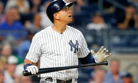 NEW YORK, NY - JUNE 11:  Alex Rodriguez #13 of the New York Yankees reacts after striking out in the fourth inning against the Detroit Tigers at Yankee Stadium on June 11, 2016 in the Bronx borough of New York City.  (Photo by Jim McIsaac/Getty Images)