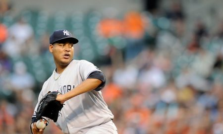 BALTIMORE, MD - JUNE 04:  Ivan Nova #47 of the New York Yankees pitches against the Baltimore Orioles at Oriole Park at Camden Yards on June 4, 2016 in Baltimore, Maryland.  (Photo by G Fiume/Getty Images)