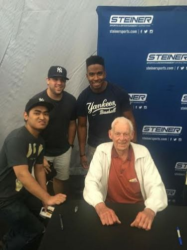 Some of the BP crew with Don Larsen