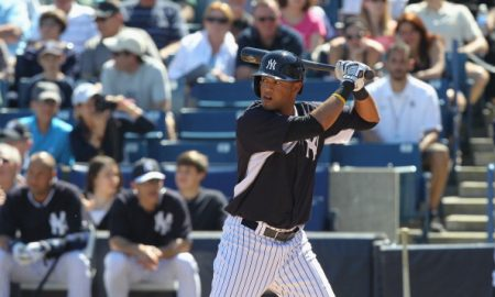 TAMPA, FL - MARCH 1: Mason Williams #97 of the New York Yankees bats during a spring training game at George M. Steinbrenner Field on March 1, 2014 in Tampa, Florida. (Scott Iskowitz/ Getty Images)
