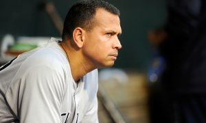 BALTIMORE, MD - JUNE 03:  Alex Rodriguez #13 of the New York Yankees watches the game against the Baltimore Orioles at Oriole Park at Camden Yards on June 3, 2016 in Baltimore, Maryland.  (Photo by G Fiume/Getty Images)