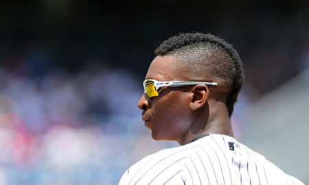 NEW YORK, NY - JUNE 22:  Didi Gregorius #18 of the New York Yankees looks on in the third inning against the Colorado Rockies at Yankee Stadium on June 22, 2016 in the Bronx borough of New York City. (Photo by Mike Stobe/Getty Images)