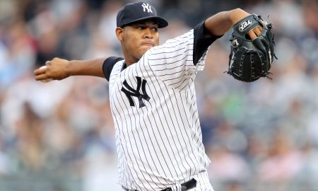 July 31, 2012; Bronx, NY, USA; New York Yankees pitcher Ivan Nova (47) throws a pitch during the first inning of a game against the Baltimore Orioles at Yankee Stadium. Mandatory Credit: Brad Penner-US PRESSWIRE