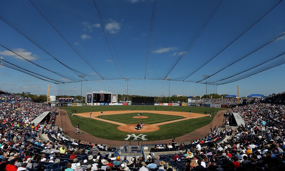 TAMPA, FL - MARCH 18:  General view of George M. Steinbrenner Field during the sixth inning of a game between the Boston Red Sox and the New York Yankees on March 18, 2014 in Tampa, Florida.  (Photo by Stacy Revere/Getty Images)