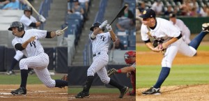 Rob Segedin, J.R. Murphy, and Mark Montgomery will represent Tampa in the FSL All-Star Game (Photo Credit: Tampa Yankees)