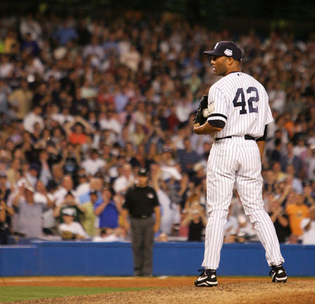 Yankee closer, Mariano Rivera, hasn't spent much time on the mound so far in 2012