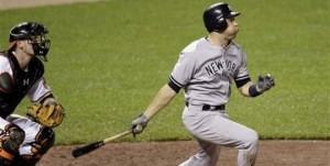 Teixeira's two run shot helped give the Yankees an 8-5 win in Baltimore last night.