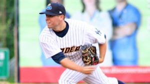 Mikey O'Brien's first start at Waterfront Park left a bit to be desired (Photo: Trenton Thunder)