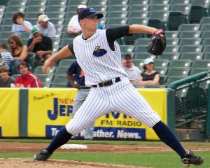 Ryan Pope started for Trenton and combined with three other pitchers to shut out the Harrisburg Senators (Photo Credit: The Times-Tribune)