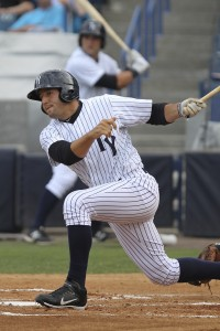 Rob Segedin leads Tampa with 28 RBI on the season (Photo Credit: Mark LoMoglio/Tampa Yankees)