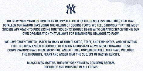 Yankees Black Lives Matter